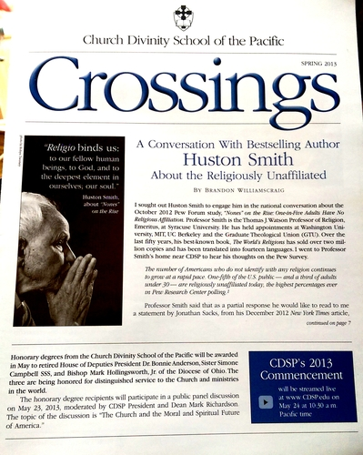Huston Smith article for CDSP+image